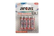 Arcas Pack de 4 piles Digi-Alcaline Mignon AA Arcas