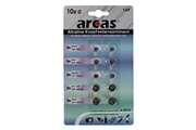 Arcas Pack de 10 piles boutons Arcas AG1-AG13