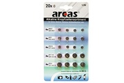 Arcas Pack de 20 piles bouton Arcas AG1-AG13