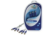 Hq 3x cable RCA male vers 3x cable RCA male cable 5.00 m