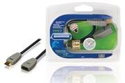 Bandridge Cable rallonge HDMI haut debit avec connecteur Ethernet HDMI - Entree HDMI 0,30 m bleu