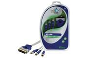 Hq Peritel standard male - 3x RCA cable male audio/video 5.00 m