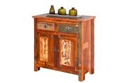 Homelife24 Commode bahut buffet console à tiroirs meuble de salon salle a manger manguier
