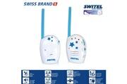 Switel Babyphone Écoute-bébé silencieux numérique clip ceinture et longue portée