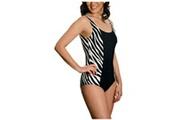 Marque Inconnue B6660 : maillot de bain amincissant zebre s noir