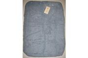 Eveil Et Nature Housse matelas à langer Elastique, coton bio 50x70 cm bleu