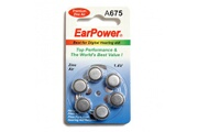 Audilo Une plaquette de pile auditive d' EarPower , auditives EarPower A675