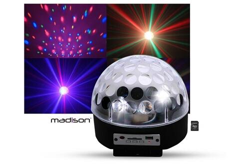 Madison Boule lumineuse ASTRO4 LED RVB HP intégrés SD/USB