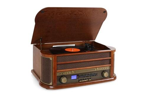 Auna Rm1-belle epoque 1908 retro stereo cd mp3 usb en bois