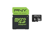 Pny PNY MicroSDHC 8GB Performance 50MB/s + SD adapter