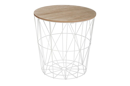 Atmosphera Table Basse Kumi Blanche