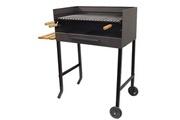 El Zorro Barbecue artisanal avec tablette latérale gauche + grille inox - 1000 x 720 x 400 mm