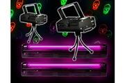 Fx Lab Pack Halloween Déco Réglettes UV tubes Néon + 2 Jeux Light Rouge/Vert Têtes de mort