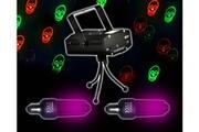 Fx Lab Set Halloween Déco 2 Ampoules UV fluorescente + Jeu Light Rouge/Vert Têtes de mort