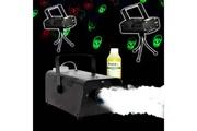 Fx Lab Soirée Halloween Déco Machine à fumée + Liquide + 2 Jeux Light Rouge/Vert Têtes de mort