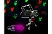 Fx Lab Set Halloween Déco Ampoule UV fluorescente + Jeu Light Rouge/Vert Têtes de mort