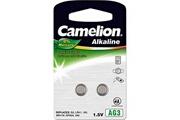 Camelion Piles boutons Alcaline AG 3 / LR41 / 392 / 192 / Blister de 2 piles «SANS MERCURE» CAMELION