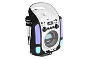 Auna Kara Illumina Lecteur karaoké CD USB MP3 effets lumineux LED 2 micros –noir