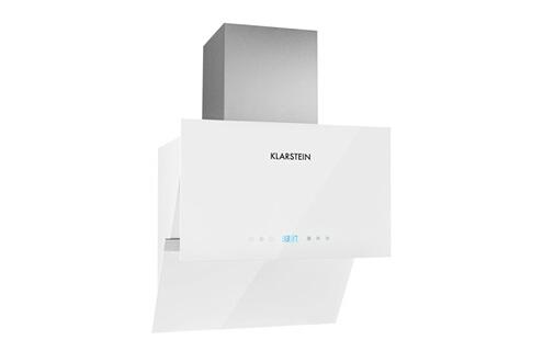 KLARSTEIN Aurea VII Hotte aspirante design moderne avec panneau tactile et télécommande (60cm, 550m³/h, timer) - verre blanc - classe A