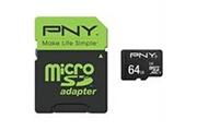 Pny PNY Carte memoire MicroSDXC 64Go Cl10 + Adaptateur