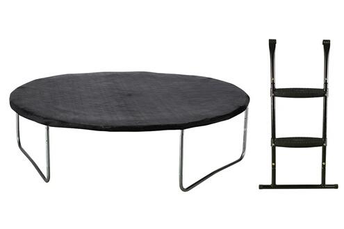 kangui trampoline de jardin rond 430 cm filet de s curit chelle b che de protection. Black Bedroom Furniture Sets. Home Design Ideas