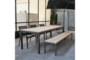 Gecko Jardin Table en teck et alu anthracite 220 cm scilly