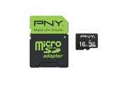 Pny PNY MicroSDHC 16GB Performance 50MB/s + SD adapter