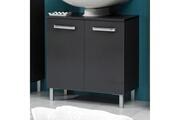 Mobilier Meuble sous-lavabo 2 portes longueur 60 cm weasley - anthracite - seul