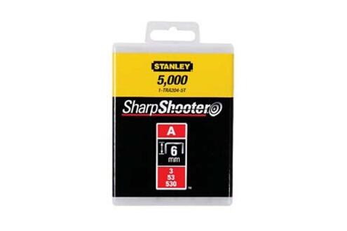 STANLEY Boîte de 1000 agrafes type A 6mm STANLEY 1-TRA204T