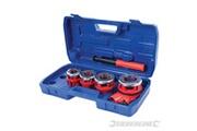 Silverline Coffret de filières de plombier 13, 19, 25 et 32 mm silverline 868556