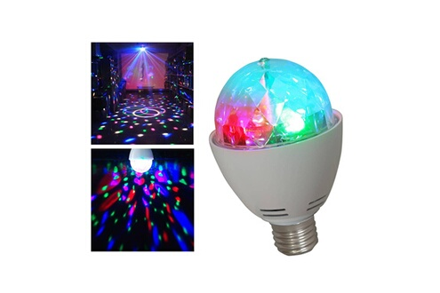 Ibiza Light Ampoule culot E27 jeu de lumière LEDs RVB 3x1W effet ASTRO rotatif