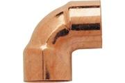 Raccords RACCORDS - Coude cuivre à souder 90° femelle/femelle Ø 14 mm - Lot de 2