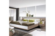 Maisonetstyles Lit en 160x200cm avec 2 chevets + tête de lit