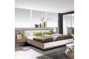 Maisonetstyles Lit en 180x200cm avec 2 chevets + tête de lit