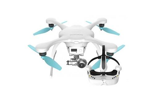 Dok Phone Drone ghostdrone 2.0 avec lunettes vr blanc (ios apple)