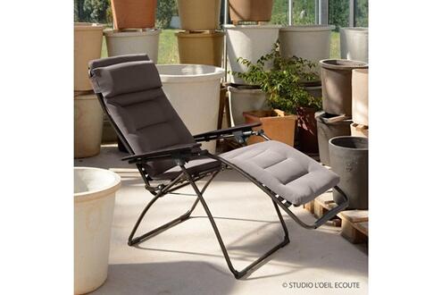 Chaise Et Lafuma Acier Comfort Pliante Futura Air Toile En Multiposition Longue K3cuFJl1T