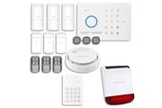 Chuango Alarme maison - système d'alarme sans fil gsm immunité animaux : incendie + clavier + sirène flash solaire avec batterie chuango o3 / g5 / s5