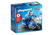 PLAYMOBIL PLAYMOBIL 6876 Moto de policier avec gyrophare