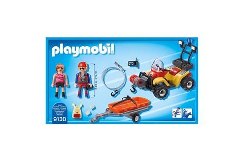 PLAYMOBIL PLAYMOBIL 9130 Action - Secouriste des montagnes avec quad
