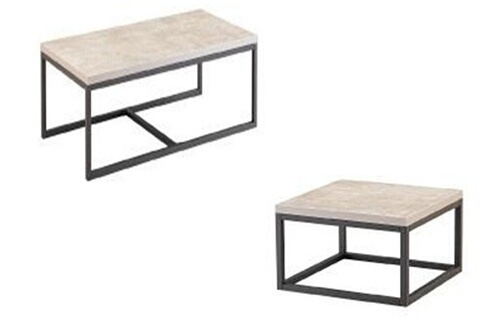 Inside 75 Lot De 2 Tables Basses Odense Coloris Effet Beton