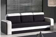Inside 75 Canapé convertible nyx en bi-matière noir et blanc