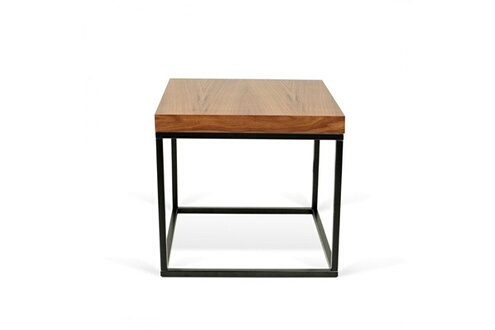 Inside 75 Prairie Table Basse Carree En Noyer Pietement