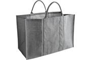 Pegane Sac à bûches en jute coloris gris, 60 x 30 x 40 cm -PEGANE-