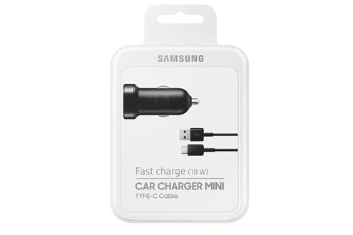 Samsung Samsung car charger + 2 usb to type c -noir