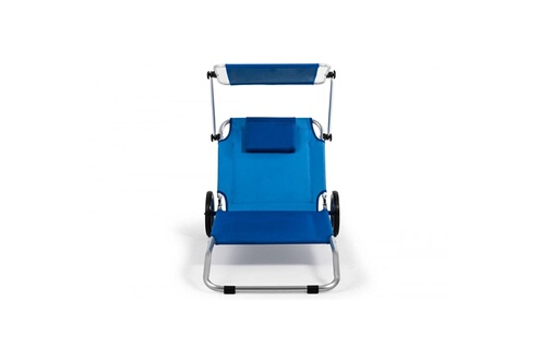 siesta design malibu transat chaise de plage pliable parasol int gr bleu. Black Bedroom Furniture Sets. Home Design Ideas
