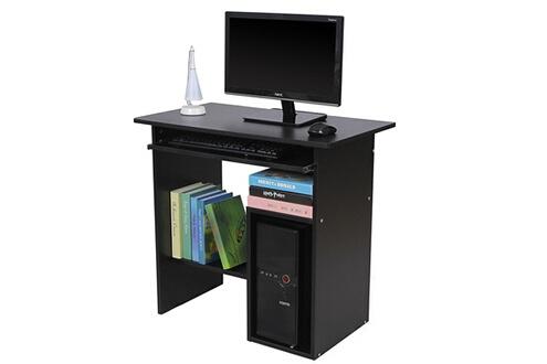 Rocambolesk superbe bureau informatique avec etagère noir neuf
