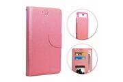PH26® HP Elite x3 Etui Housse folio rose façon cuir texturé avec porte cartes et surpiqûres apparentes by PH26®