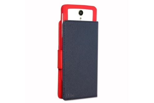 PH26® HP Elite x3 Etui Housse folio bleu marine façon cuir texturé avec porte cartes et surpiqûres apparentes by PH26®