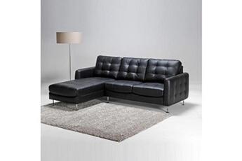 Canapé d'angle dallas gauche / noir