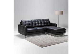 Canapé d'angle dallas droit / noir